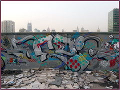 POP Raps (Dezio one) Tags: china graffiti shanghai crew abs smer mct xit dezio ajt andc kcw clw