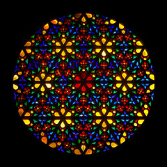Rose Window (hogsvilleBrit) Tags: glass stainedglass symmetry cathederal stained gaudi gaudí symmetrical mallorca palma rosette rosewindow 4wall rosassamajor oculusmajor