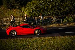 20121201_01_Ferrari 458 Italia (foxfoto_archives) Tags: ex japan canon eos tokyo italia mark f14 shibuya 85mm sigma ferrari ii harajuku  5d   dg   458  hsm
