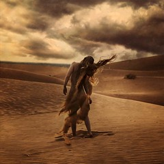eye of the storm (brookeshaden) Tags: storm nude born sand desert creation sanddunes fineartphotography conceptualphotography brookeshaden