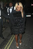 Alexanda Burke, leaving the 'Mahiki Coconut Christmas party' at Mahiki