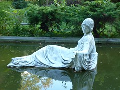 Lady in the Pond 1 (bluelibris) Tags: architecture estate longisland northshore mansion grounds historichouses adaptivereuse historichomes nassaucounty manhassetny inisfada johntorreywindrim stignatiusjesuitretreathouse nicholasandgenevievebrady