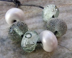 Chasing The Winter Blues Away (1) (Glittering Prize - Trudi) Tags: glass grey beads bubbles trudi lampwork artisan shimmer gbuk britlamp glitteirngprize