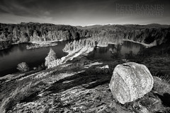 Tarn Hows in Black and white - Explore (Pete Barnes Photography) Tags: panorama lake cold ice water monochrome field rock stone sepia sunrise landscape island photography mono frost photographer view lakes lakedistrict panoramic tarn tarnhows landscapephotography landscapephotographer petebarnes