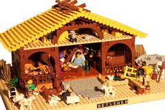 9810 (c.behrens) Tags: christmas david barn joseph star sheep lego maria jesus crib jul betlehem nativity 2012 3wisemen krybbe