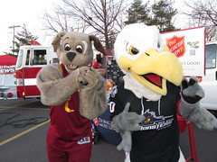 Salvation Army (13) (Moondog Mascot) Tags: food lake army drive discount wing drug monsters erie sully militant salvation 19 channel mart moondog cavaliers strongsville 12122012 cavsmoondog