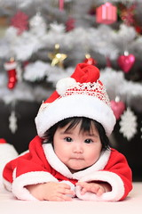 Baby Rheina dressed as Santa Claus (^-^) (Spice  Trying to Catch Up!) Tags: red portrait baby holiday color cute hat japan canon hair geotagged asian nose japanese eyes hands infant asia december child bokeh adorable christmastree lips babygirl  bata merrychristmas  tao  santababy loveofmylife 2012 babae  hija        myprincess    mytreasure  sanggol santaslittlehelper santashat    japanesebaby    santaclauscostume canoneos7d  celebratingchristmas       gettyimagesjapan12q4 infantdressedassantaclaus   rheinauratsuji