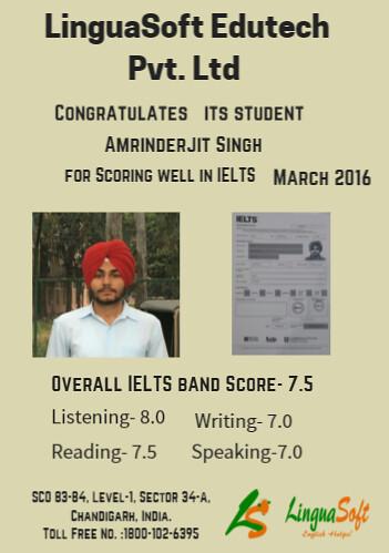 Amrinderjit Singh- IELTS Band Score 7.5