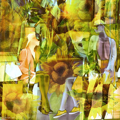 Colour my world (Lemon~art) Tags: mannequin sunshine sunflower treatthis kreativepeople yellow flower nature street manipulation photomontage