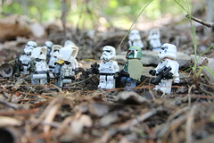 """""""Vader sent me, I don't care what you think, he is paying me not you. Now you will follow my lead or you'll be dead."""" (kevinmboots77) Tags: lego legography starwars stormtroopers scouttroopers bobafett outdoors"""