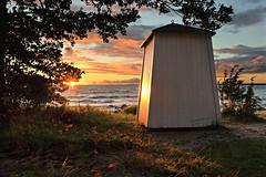 HANKO HUS beach hut (pentlandpirate) Tags: finland suomi hanko hango beach hut sun sunset pearlofthebaltic sea seaside