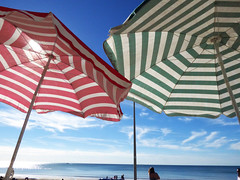 Hot Day (Durley Beachbum) Tags: umbrellas stripes beach august bournemouth