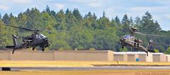 HEAVY METAL BALLET (Swaja's Aviation Art) Tags: portland hillsboro airport khio hio oregon us army ah64 apache longbow ii military helicopters nikon d5100
