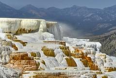 Mammoth Hot Springs, Yellowstone NP (swissukue) Tags: yellowstone mammoth hotsprings water sony a7 ilce7 landscape wow greatphotographers mammothhotsprings cffaa iwanttobetherenow greatestphotographers ultimatephotographers usa