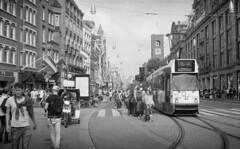 No Service (Arne Kuilman) Tags: akarette xenon 50mm lens ilford xp2 nederland netherlands handheld c41 dam damsquare tram schneiderkreuznach xenon50mmf2