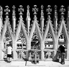Duomo roof, Milan (stumayhew) Tags: italy milan canon 6d streetphotography duomo catherdral mono blackandwhite view vista architecture stonework marble