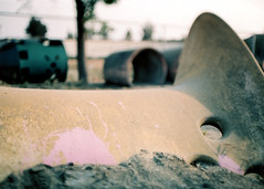 Porst SP Cucamonga Playground () Tags: vintage retro classic film camera losangeles california riverside history west coast architcture porst photo quelle 35mm m42 slr germany chinon cosina japan tiltshift color