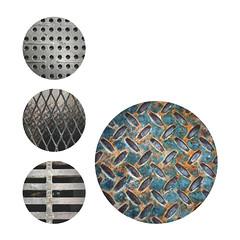 234   365   V (Randomographer) Tags: project366 metal pattern metallic analysis graphic design minimal abstract circles grate mesh iphone 234 366 texture