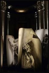 Ernest Pignon Ernest (Gramgroum) Tags: exposition ernest pignon nice mamac abbatiale siant pons extases collage dessin encre chine noir