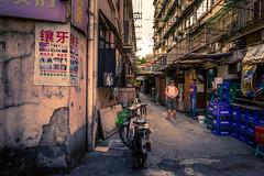 dentist 20M further down :-) (Rob-Shanghai) Tags: shanghai china lanes leicaq street streetphotography people life dentist advert