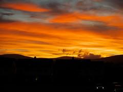 (turgidson) Tags: panasonic lumix dmc g7 panasoniclumixdmcg7 panasonicg7 micro four thirds microfourthirds m43 g lumixg mirrorless x vario 35100mm 35100 f28 hhs35100 telephoto zoom lens panasonic35100 panasoniclumixgxvario35100mmf28 silkypix developer studio pro 7 silkypixdeveloperstudiopro7 raw bray wicklow ireland sun sunset evening september red sky orange clouds suburbs car headlights p1050033 semi detached houses housing suburbia