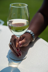 White wine and red nails (PaulHoo) Tags: golf course nikon dof bokeh product tasty 2016 white wine bracelet luxury nails red joy taste fashion lifestyle