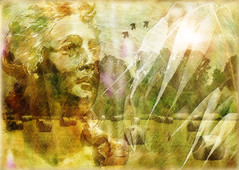 Demeter's Time (virtually_supine) Tags: theawardtreechallenge146~summersend demeter greekgoddess harvest corn christchurchmeadow oxforduk creative bright digitalartwork photomanipulation collage montage textures layers photoshopelements13mac effectswatercolourroughpastels