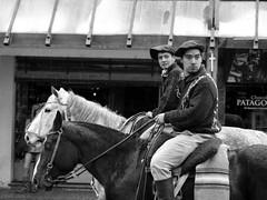 Gauchos a caballo (Ins Luque Aravena) Tags: blancoynegro monochrome gaucho caballo horse rain lluvia argentina bariloche patagonia