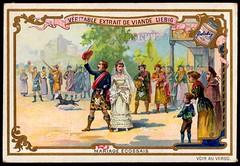 Liebig Tradecard S417 - A Scottish Marriage (cigcardpix) Tags: tradecards advertising ephemera vintage liebig chromo wedding marriage