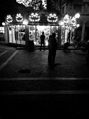 Evening Carrousel (biloxi_blues) Tags: rain night carrousel iphone italy