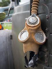 Widnes vintage rally gas mask 01 sep 16 (Shaun the grime lover) Tags: widnes halton cheshire lancashire victoria park vintage rally fair gasmask costume military