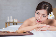 The girl relaxes in the spa salon (anekphoto) Tags: asia asian ball beautiful body brown candle care caucasian chillout cosmetics cosmetology deep enjoy flower girl health healthcare healthy herbal hotel lifestyle light luxury massage massager moisturizing pretty procedure regeneration regenerative relax relaxation resort resting salon satisfaction skin skincare smiling spa space text thai thailand therapy treatment wellbeing women young