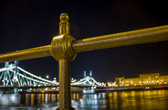 Szabadsg hd / Liberty Bridge (Budapest) (micebook) Tags: hungary budapest europe buildings local town city bridge tower culture synagoge castle architecture centre tourism ruins soldiers streets roads railings sky water