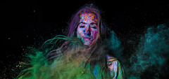 Turquoise Paint (jgoods_1825) Tags: pink blue red orange color yellow rainbow paint purple powder throw powderpaint