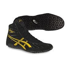 Black And Gold Rulon Wrestling Shoes