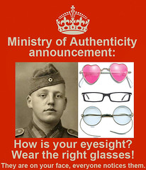 MOA Poster: Glasses (Ministry of Authenticity) Tags: world history vintage living dance outfit clothing education war ministry wwii retro event correct ww2 second soldiers uniforms reenactment authentic realism authenticity historically
