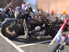 Classic Indian (Steven Hight) Tags: sanfrancisco fortpoint motorcyclerally bokehpanorama nikkor135f2ai 2012stevenhight 85photos