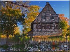 Illusion - only reflections (Ostseeleuchte) Tags: reflections wasser illusion pont spiegelungen waterteich