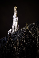 St. Stephens lit up (traario) Tags: roof light church architecture licht nacht dom kirche front steeple architektur turm dach fassade ststephens stefansdom kirchturm mariotraarphotography