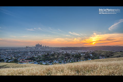 sunset skyline (Eric 5D Mark III) Tags: california city light sunset sky usa cloud building skyline canon point landscape photography losangeles twilight downtown cityscape view unitedstates wideangle gradient vista dtla rosehill ericlo 24l ef24mmf14liiusm eos5dmarkiii 5d3 paradisedr