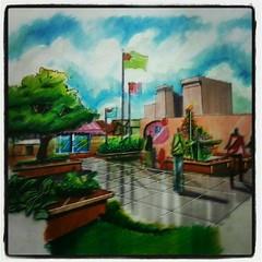 Mix Media (StOrmie Tillada) Tags: sky architecture pencil paper mix media coloring colored rendering mixmedia kurecolor