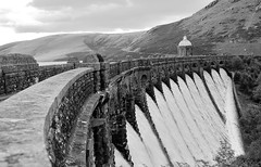 Ahead. By R J Watson (Ray~Watson) Tags: uk bw water wales architecture walking landscape ed mono countryside blackwhite waterfall high nikon dam exploring structure if tall welsh f28 afs 2012 linear composed resevior 2470mm d7000 ellanvalley rayader