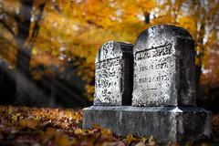 The Shipleys (Pragmatic1111) Tags: autumn orange sun fall halloween cemetery grave graveyard leaves 50mm leaf nikon f14 tombstone newhampshire gravestone sunbeam hdr sunray 50mmf14 d700 mygearandme