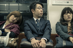 When Monday comes (James Yeung) Tags: street sleeping japan train subway japanese tokyo candid cinematic