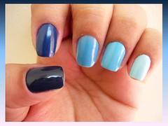 Degradê azul (8mlsdeamor) Tags: azul degradê clubedoesmalte