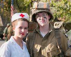 Waxahachie WW II Weekend 2012 (d-day buff) Tags: wwii battle worldwarii nurse reenactment axis militaria veteransday allies waxahachie