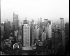 Makati Skyline (francis_bal) Tags: graphic 8x10 ilford fp4 kowa kmv 305mm