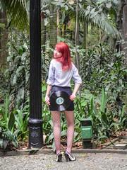 Pin Up (Vanderlei Gomes Fotografia :-]) Tags: woman girl up model long pin play mulher modelo redhead teen lp garota discos menina ruiva