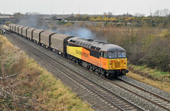 56087 near Water Orton (robmcrorie) Tags: water boston train grid steel rail railway loco trains class heath locomotive enthusiast railways railfan freight warwickshire 56 orton colas 56087 washwood