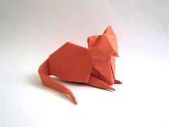 Cat 3 with the paper of Moulin Richard de bas (tetsuya gotani) Tags: cat origami  tetsuya     gotani